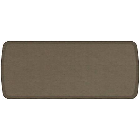 "GelPro Elite Vintage Leather Comfort Floor Mat, 20"" x 48"", Mushroom"
