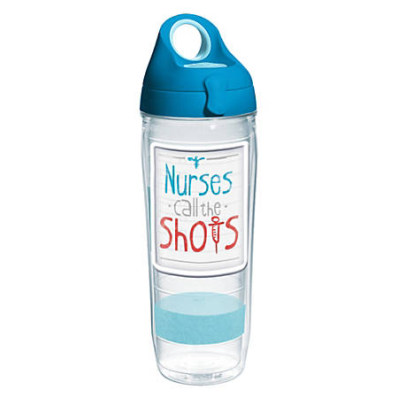 Tervis Water Bottle With Lid, 24 Oz, Nurses Call The Shots