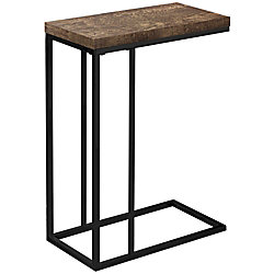 """Monarch Specialties Zachary Accent Table, 25-1/4""""H x 10-1/4""""W x 18-1/4""""D, Brown/Black"""