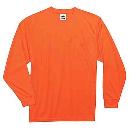 Ergodyne GloWear 8091 Non-Certified Long-Sleeve T-Shirt, Medium, Orange