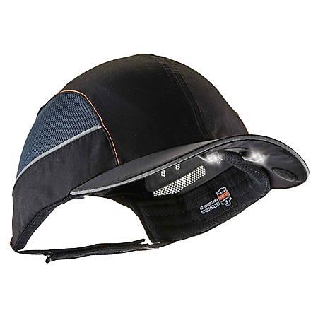 Ergodyne Skullerz 8960 Bump Cap With LED Lights, Long Brim, Black