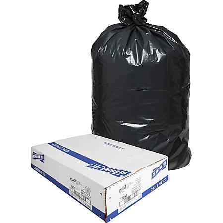 """Genuine Joe Slim Jim Can Liners - Medium Size - 23 gal - 28.50"""" Width x 43"""" Length - Low Density - Black - 150/Carton - Office Waste, Food"""