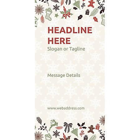 Custom Vertical Display Banner, Christmas Elements