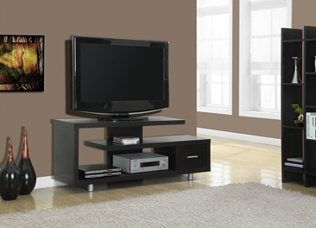 Monarch Specialties Art Deco Tv Stand For Tvs Up To 60 Cappuccino
