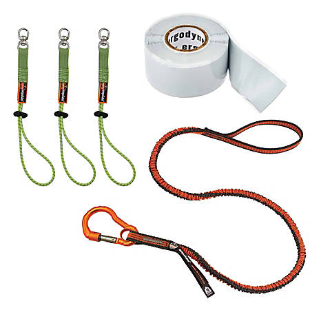 Ergodyne Squids® 3182 Tool Tethering Kit, 10 Lb, Orange/Gray