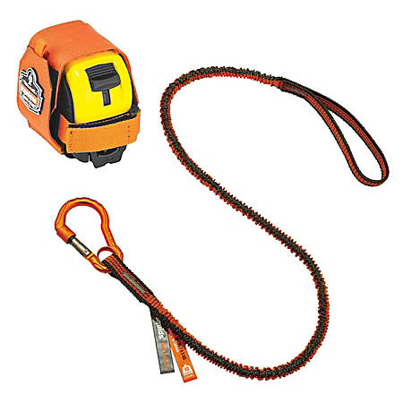 Ergodyne Squids® 3193 Tape Measure Tethering Kit, 2 Lb, Orange/Gray