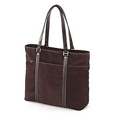 Mobile Edge Chocolate Suede Tote Case
