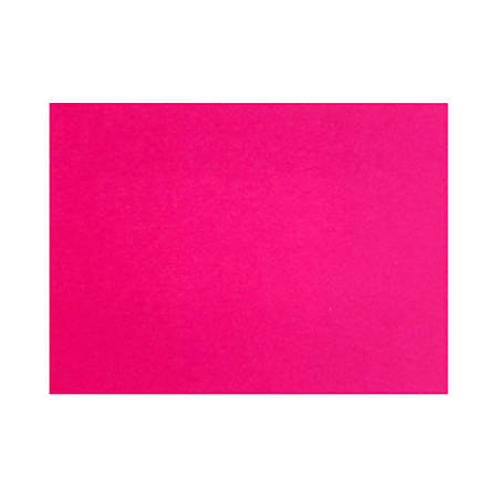 "LUX Flat Cards, A2, 4 1/4"" x 5 1/2"", Hottie Pink, Pack Of 250"