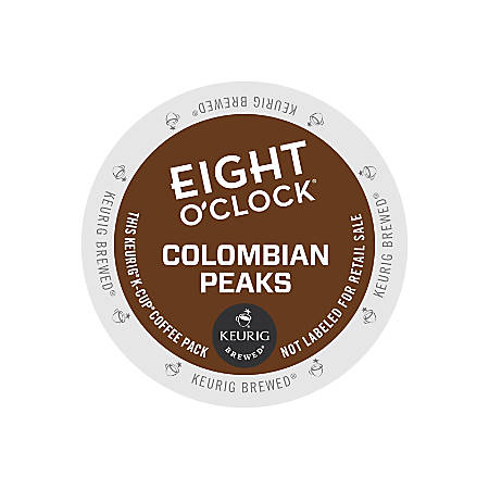 Eight O'Clock® Colombian Coffee K-Cup® Pods, 0.33 Oz, Box Of 24