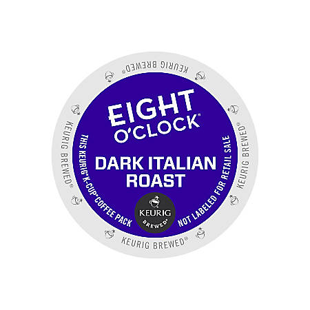 Eight O'Clock Dark Italian Coffee K-Cups®, 3 Oz, Box Of 24