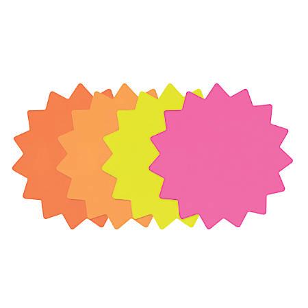 """Cosco® Starburst Die-Cut Paper Signs, Looseleaf, 4"""" Diameter, Multicolor, Set of 60"""