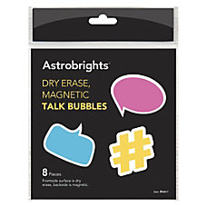 Astrobrights Dry Erase Magnetic Talk Bubbles