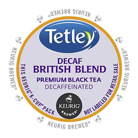 Tetley British Blend Decaf Black Tea - DeCaffeinated, Black Tea - British Blend - K-Cup - 24 / Box