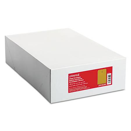"Universal® Center-Seam Envelopes With Clasp Closure, 28 Lb, #93, 9 1/2"" x 12 1/2"", Brown Kraft, Box Of 100"