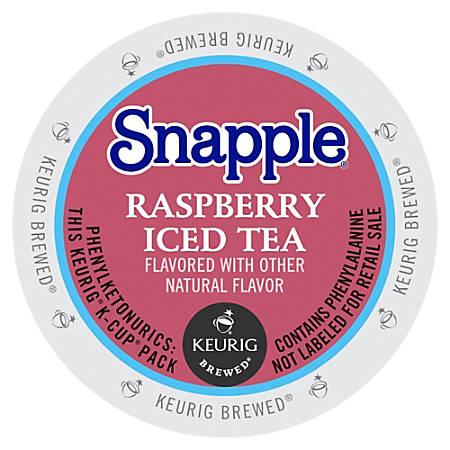 Snapple Raspberry Iced Tea - Raspberry Flavor - K-Cup - 22 / Box