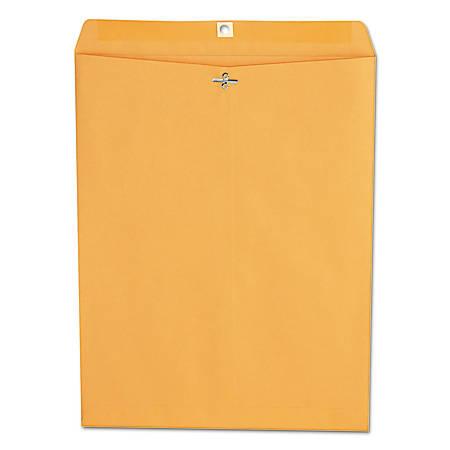 "Universal® Center-Seam Envelopes With Clasp Closure, 28 Lb, #110, 12"" x 15 1/2"", Brown Kraft, Box Of 100"