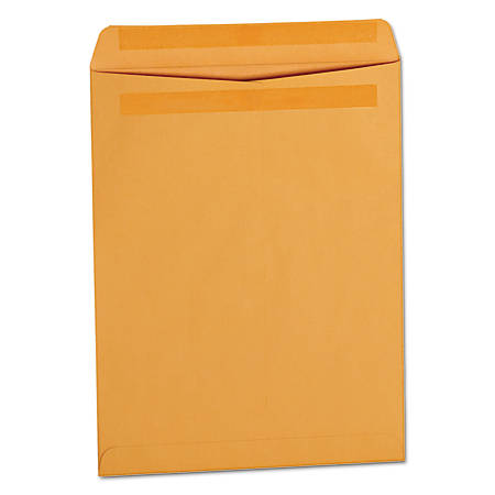 """Universal® Self-Stick File-Style Envelopes With Press-And-Seal Closure, #97, 10"""" x 13"""", Brown Kraft, Box Of 250"""