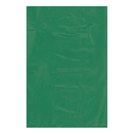 """Office Depot® Brand Flat Poly Bags, 6"""" x 9"""", Green, Pack Of 1,000"""
