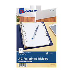 Avery Preprinted Tab Dividers Mini 5