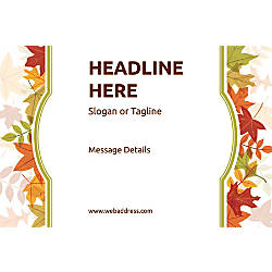 Adhesive Sign Autumn Frame Horizontal