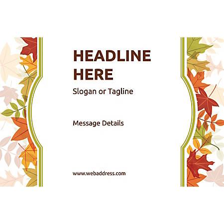 Adhesive Sign, Autumn Frame, Horizontal