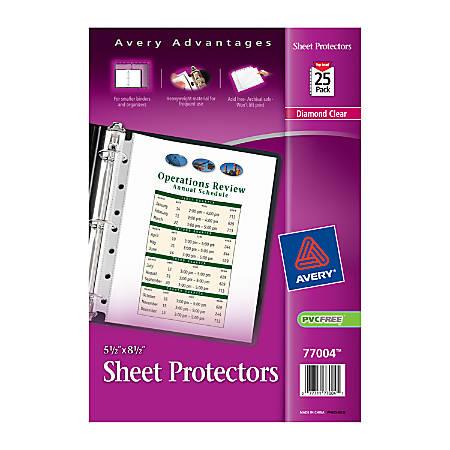 Avery Diamond Clear Heavyweight Sheet Protectors 5 1 2 X 8
