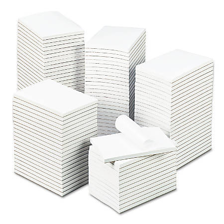 """Universal® Bulk Scratch Pads, 4"""" x 6"""", Unruled, 200 Pages (100 Sheets), White, Carton Of 120"""