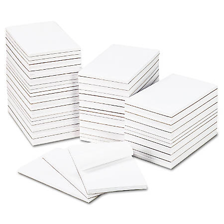 "Universal® Bulk Scratch Pads, 5"" x 8"", Unruled, 200 Pages (100 Sheets), White, Carton Of 64"
