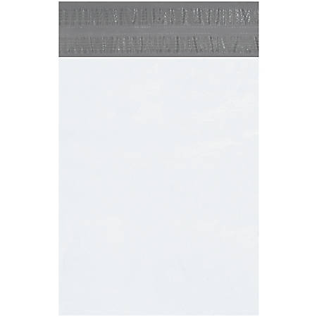 """Office Depot® Brand Returnable Poly Mailers, 12"""" x 15 1/2"""", White, Case Of 100"""