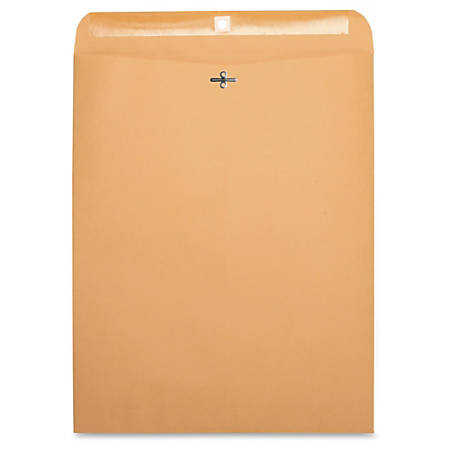 "Business Source Heavy-duty Clasp Envelopes - Clasp - #110 - 12"" Width x 15 1/2"" Length - 28 lb - Clasp - Kraft - 100 / Box - Kraft"