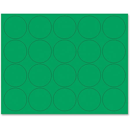"""MasterVision® Magnetic Color Coding Dots, BVCFM1602, 3/4"""" Diameter, Round, Green, Vinyl, 20 Per Pack"""