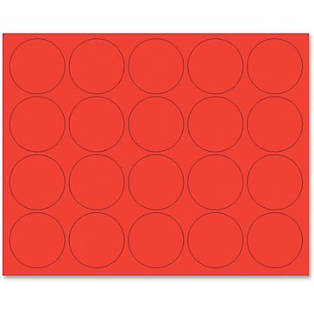 """MasterVision® Magnetic Color Coding Dots, BVCFM1604, 3/4"""" Diameter, Round, Red, Vinyl, 20 Per Pack"""