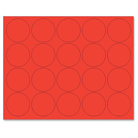 "MasterVision® Magnetic Color Coding Dots, BVCFM1604, 3/4"" Diameter, Round, Red, Vinyl, 20 Per Pack"