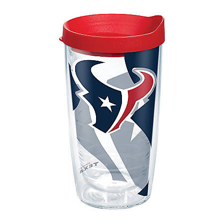Tervis NFL Tumbler With Lid, 16 Oz, Houston Texans, Clear