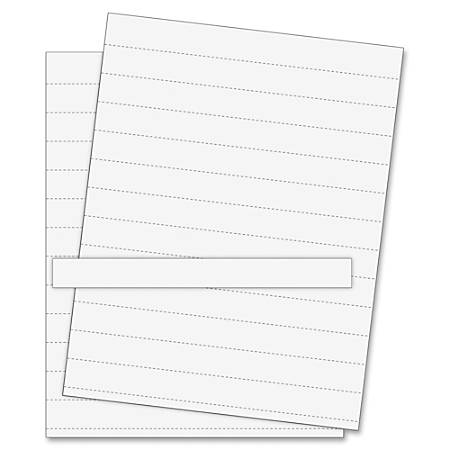 MasterVision® Magnetic Data Card Refills, White, Pack Of 10
