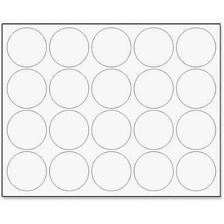 "MasterVision® Magnetic Color Coding Dots, BVCFM1618, 3/4"" Diameter, Round, White, Vinyl, 20 Per Pack"