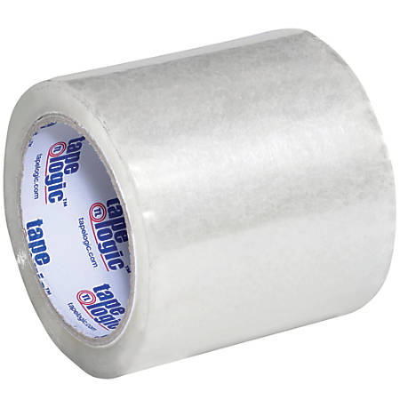 """Tape Logic® Acrylic Label Protection Tape, 1.8 mils, 3"""" Core, 4"""" x 72 Yd., Clear, Case Of 18"""
