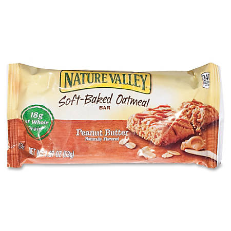 Nature Valley® Soft-Baked Peanut Butter & Dark Chocolate Oatmeal Bars, 1.87 Oz, Box Of 15