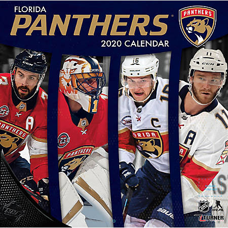 "Turner Licensing Monthly Wall Calendar, 12"" x 12"", Florida Panthers, 2020"