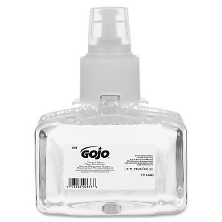 Gojo LTX-7 Clean/Mild Foam Handwash Refill - 23.7 fl oz (700 mL) - Hands-free Dispenser - Hand, Skin - Clear - Rich Lather, Moisturizing, Fragrance-free, Dye-free, Eco-friendly - 3 / Carton