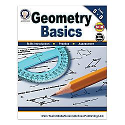 Mark Twain Media Geometry Basics Workbook