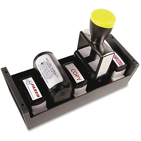 "COSCO Standard Plastic Stamp/Dater Storage Tray, 3""H x 3.6""W x 8.9""D, Gray"