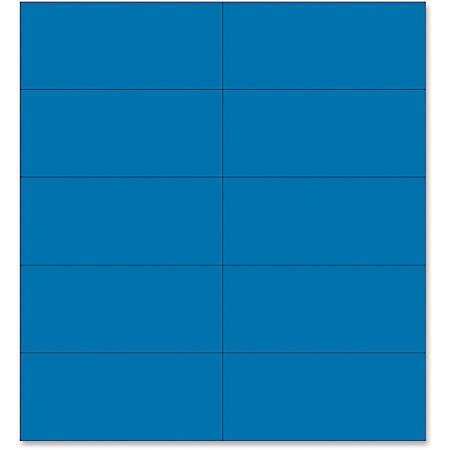 "MasterVision 2"" Magnetic Dry Erase Strips - 2"" Width x 0.88"" Length - Writable Surface, Dry Erase Surface, Precut - 25 / Pack - Blue"