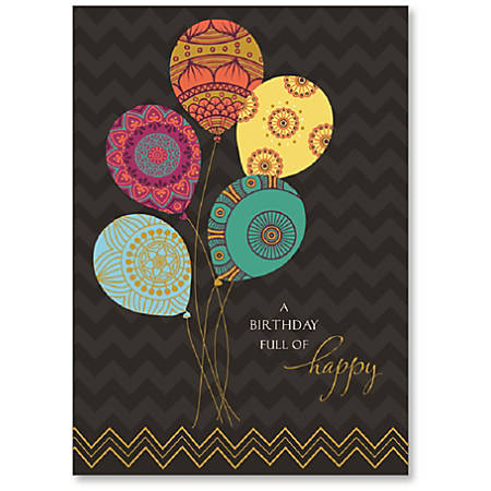 Viabella birthday greeting card with envelope birthday balloons 5 x viabella birthday greeting card with envelope m4hsunfo