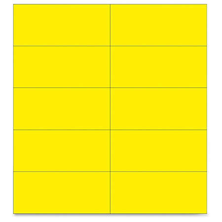 """MasterVision 2"""" Magnetic Dry Erase Strips - 0.88"""" Width x 2"""" Length - Writable Surface, Precut, Dry Erase Surface - 25 / Bag - Yellow"""
