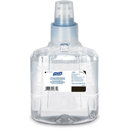 Gojo LTX-12 Hand Sanitizer Foam Refill - 40.6 fl oz (1200 mL) - Hand, Skin - Clear - Fragrance-free, Dye-free - 2 / Carton