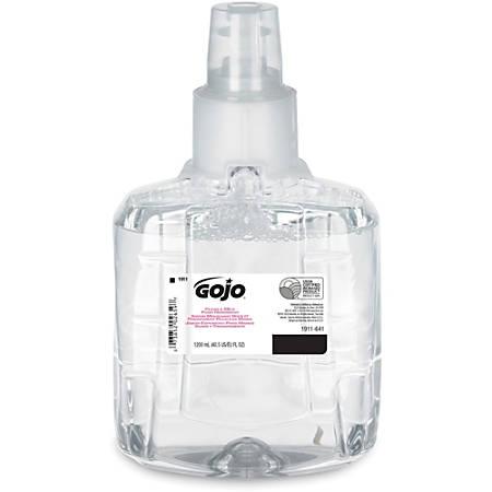 Gojo® LTX-12 Clear Mild Foam Handwash Refill - 40.6 fl oz (1200 mL) - Hand, Skin - Clear - Fragrance-free, Dye-free, Moisturizing, Rich Lather, Eco-friendly - 2 / Carton