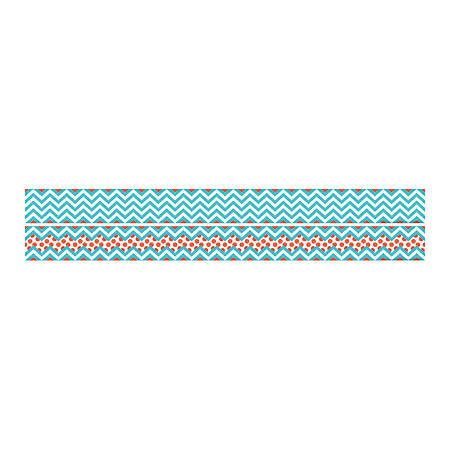 "Barker Creek Double-Sided Straight-Edge Border Strips, 3"" x 35"", Chevron Turquoise, Pack Of 12"