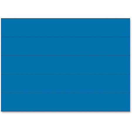 """MasterVision 6"""" Magnetic Dry Erase Strips - 6"""" Width x 0.88"""" Length - Writable Surface, Dry Erase Surface, Precut - 25 / Pack - Blue"""