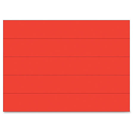 "MasterVision 6"" Magnetic Dry Erase Strips - 0.88"" Width x 6"" Length - Writable Surface, Precut, Dry Erase Surface - 25 / Bag - Red"